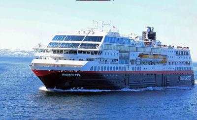 Norwegen MS Midnatsol Schiffsbegegnung