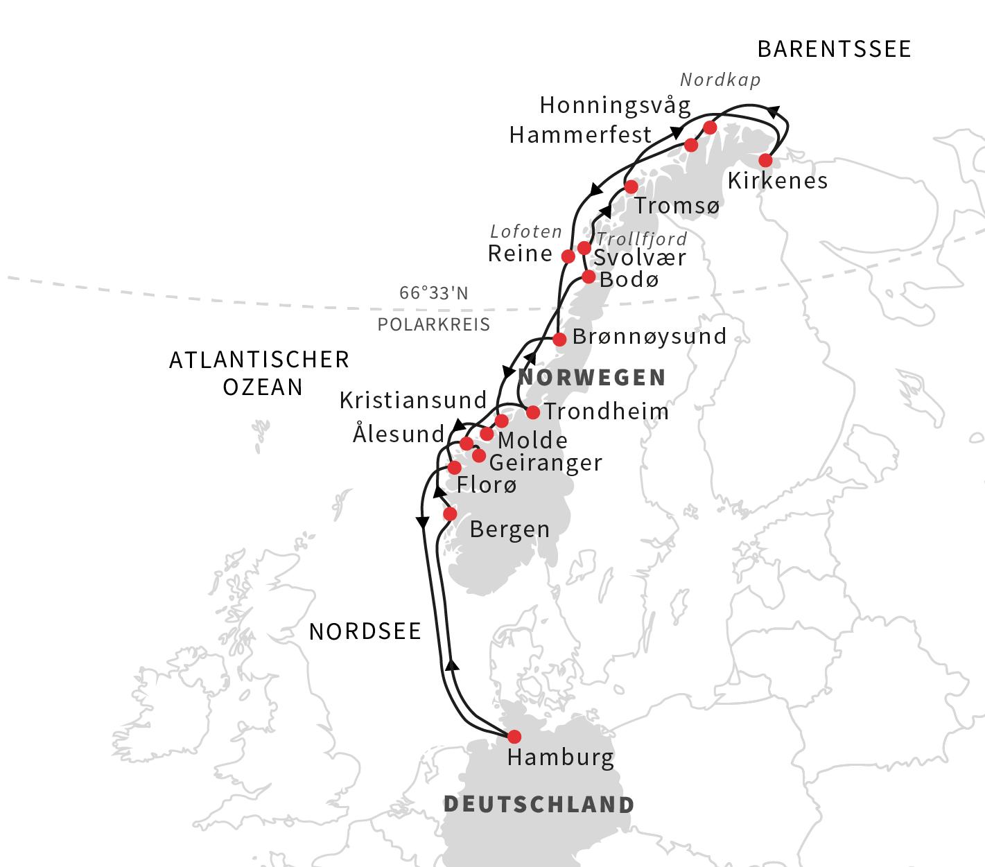 Route Roland Armundsen