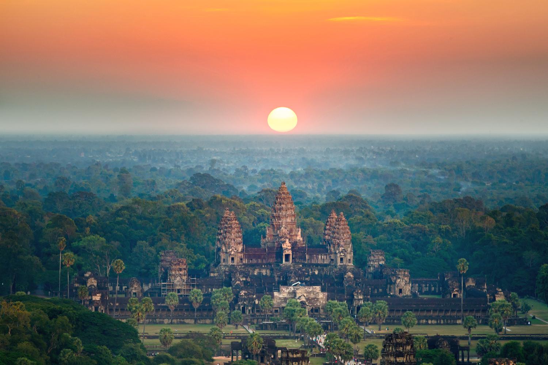 Kambodscha Siam Rep Angkor Wat bei Sonnenaufgang ©123RF
