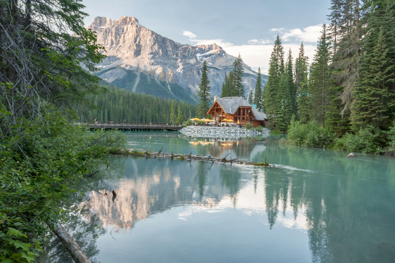 Kanada Alberta Emerald Lake Lodge Smaragd Lake ©123RF