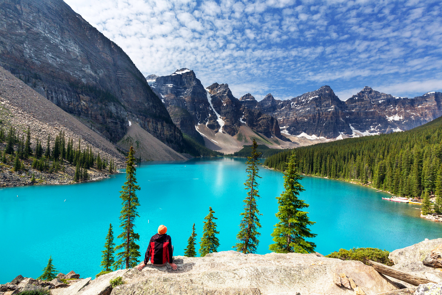 Kanada Alberta Moraine Lake, Banff-Nationalpark 123RF