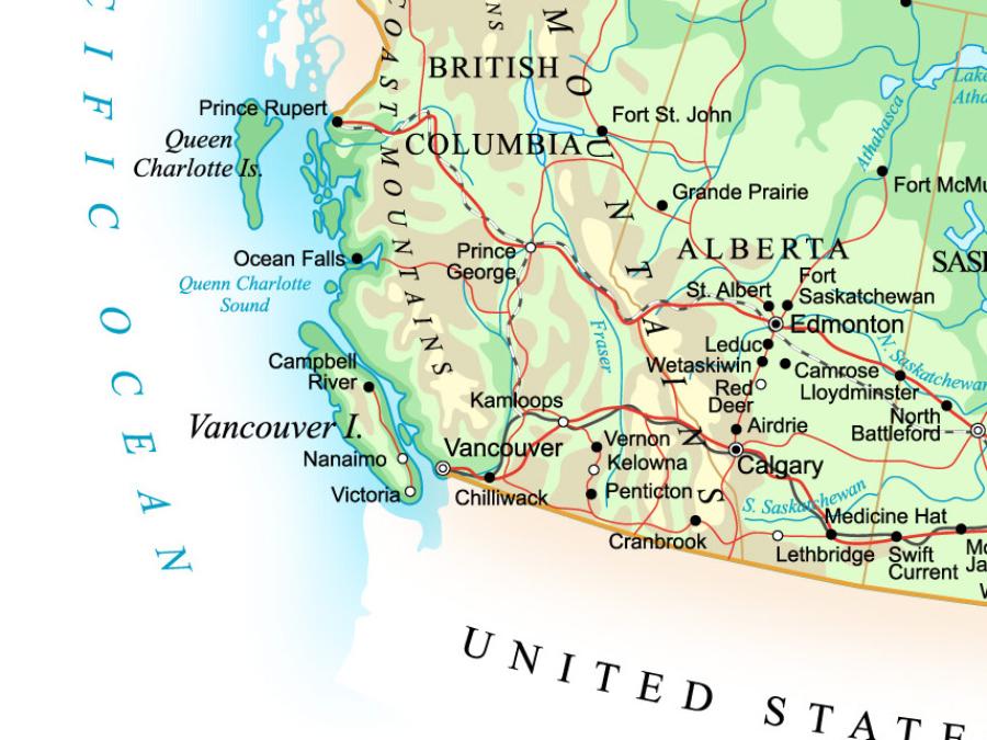Kanada Landkarte ©123RF
